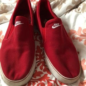 Red Nike Slip on Shoes size 13